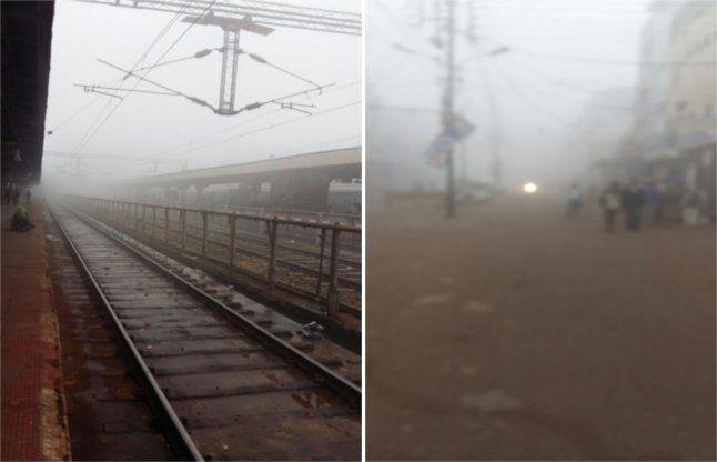 कोहरे से बिगड़ी ट्रेनों की चाल, 9 घंटे तक देरी से चल रही हैं येरेलगाडिय़ां