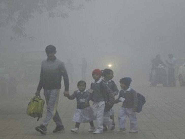 घने कोहरे और ठंड से बदला स्कूलों का समय