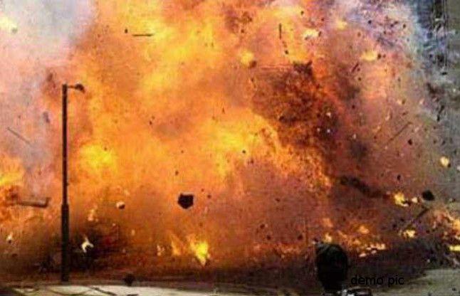 नारायणपुर के साप्ताहिक बाजार में मोटरसाइकिल में रखा बम फटा, एकघायल