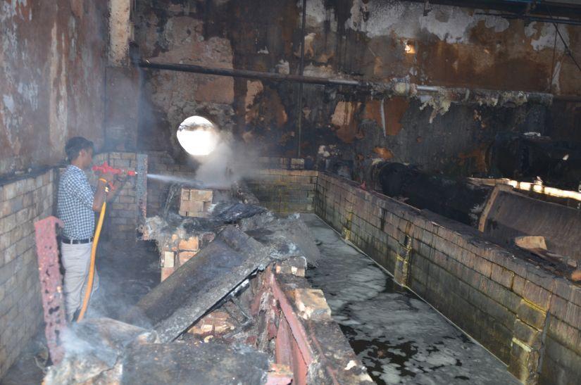 कपारो ट्यूब्स में फॉस्फेटिंग प्लांट में लगी आग