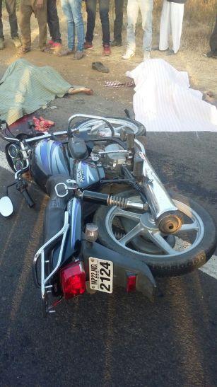 त्रयोदशी से लौट रहे बाइक सवार को ट्रक ने मारी टक्कर, साले-बहनोई की मौत