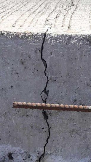 मार्ग पर दरार, घटिया निर्माण की पोल खुली