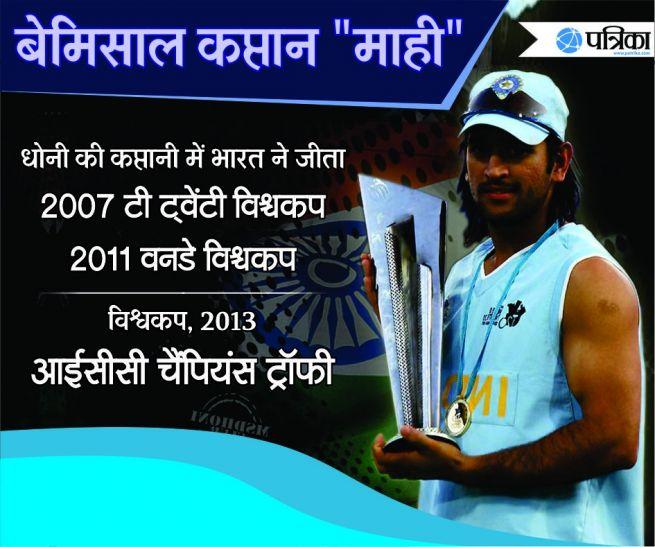 Team India Mahendra Singh Dhoni One Day T20 Captain - अद्भुत ...