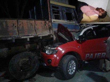 दर्दनाक हादसा : पजेरो-ट्रक   भिड़ंत में शहर के ठेकेदार एवं Engineer की मौत, 4 गंभीर