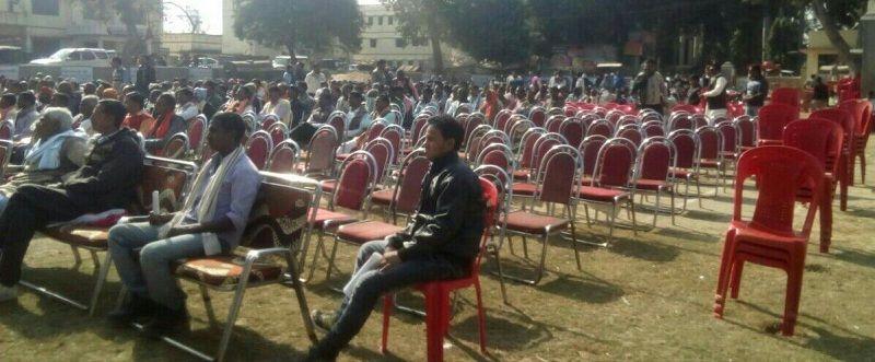 बीजेपी के सम्मेलन में नहीं जुटी लोगों की भीड़, खाली रही कुर्सियां
