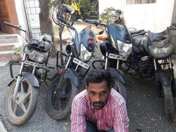 शातिर बाइक चोर राजू गिरफ्तार