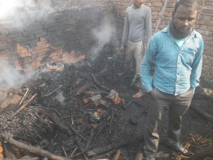 छप्पर के घर में लगी आग, तीन मासूम बच्चों की जलकर मौत