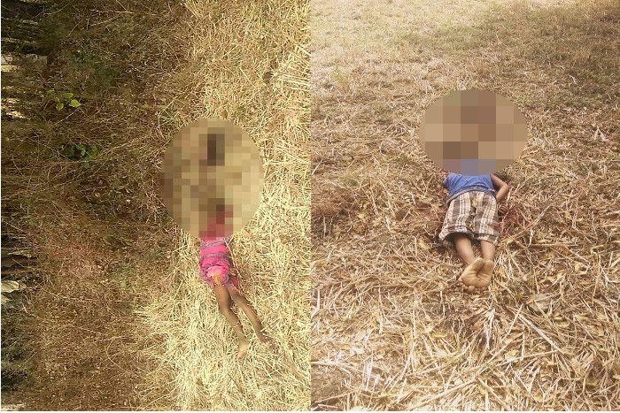खेत में दो मासूमों की मिली सिर कटी लाश से सनसनी, पिता पर हत्या की आशंका!