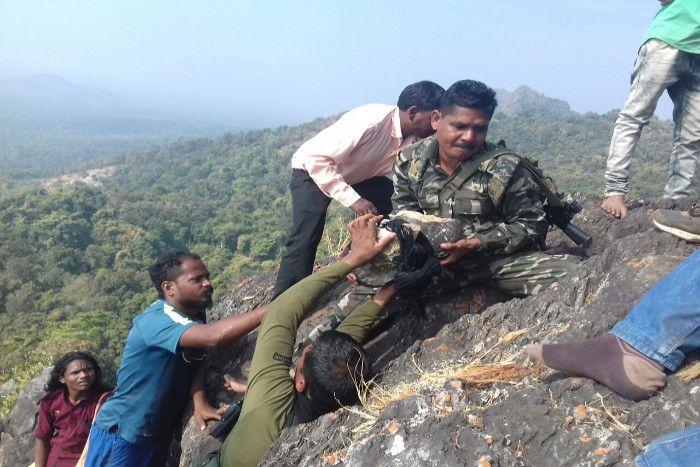 बस्तर पुलिस बोली, ढोलकल प्रतिमा को खाई में गिराने में माओवादियों का हाथ