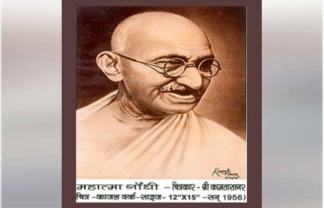 भारत शासन को भाया इनका काजल से बना गांधी चित्र, डाक टिकट में छापा