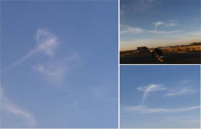 अचानक ही आसमान में बनी ऐसी आकृति, आश्चर्य में पड़े लोग