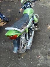 बाइक फिसलने से युवक घायल