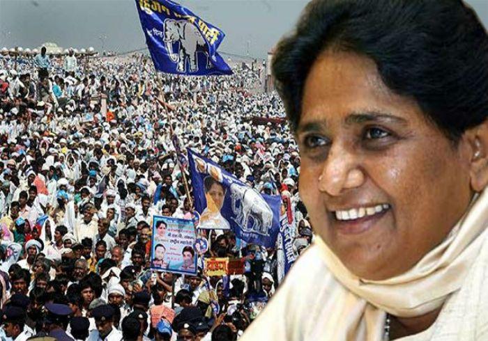 इलाहाबाद में मायावती की चुनावी सभा:मोदी से बड़ी भीड़ जुटाकर ब्राह्मण ओर पिछड़े वोटों को साधने की जुगत