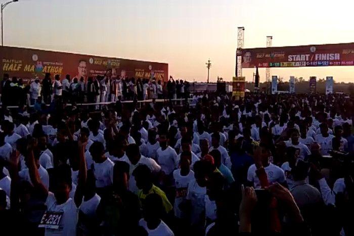 Raipur Half Marathon: CM ने दिखाई हरी झंडी तो दौड़ पड़े 20 हजार प्रतिभागी