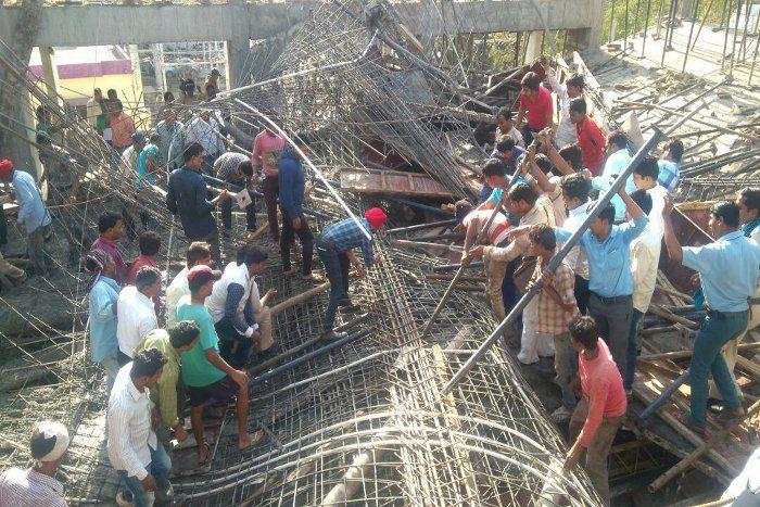 रायपुर में सर्किट हाउस की निर्माणाधीन इमारत ढही, 20 से अधिक मजदूर दबे
