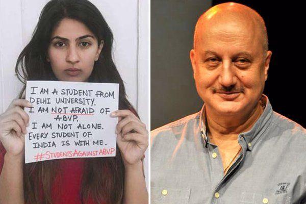 गुरमेहर के पक्ष में आए अनुपम खेर, जानिए क्या कहा भाजपा सपोर्टर ने