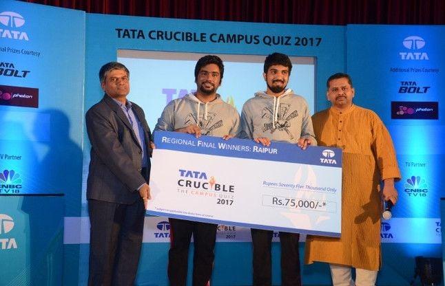 'टाटा क्रूसिबल कैंपस क्विज 2017' में IIM और NIT रायपुर का दबदबा