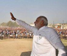 यूपी में सरकार बनने के बाद पहली मीटिंग में किसानों का कर्ज होगा माफ: नरेंद्र मोदी