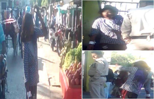 शराब पीकर युवती ने किया ऐसा हंगामा, देखती रह गई पुलिस, देखें VIDEO