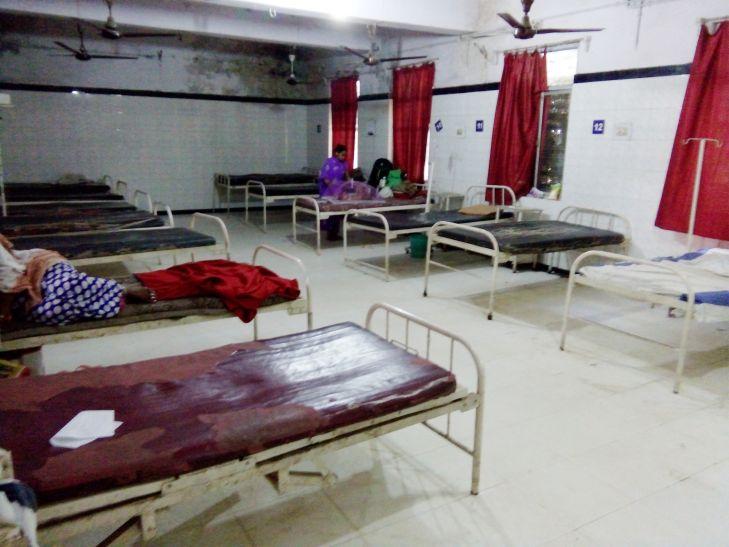 पर्व में खाली हुए अस्पताल के बेड