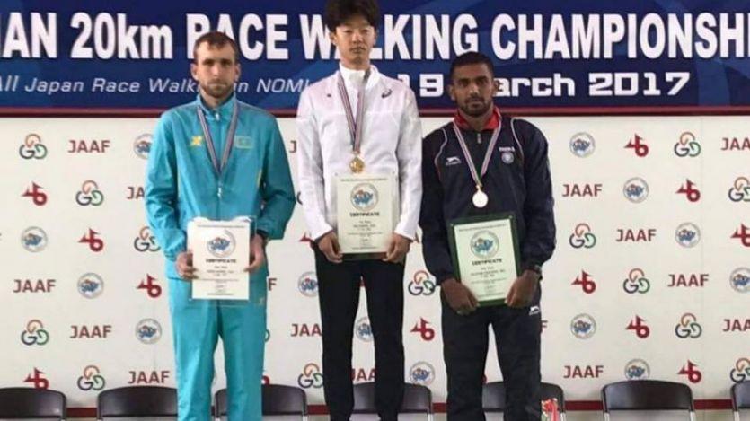 भारतीय धावक इरफान केटी ने एशियाई पैदल चाल में जीता कांसा