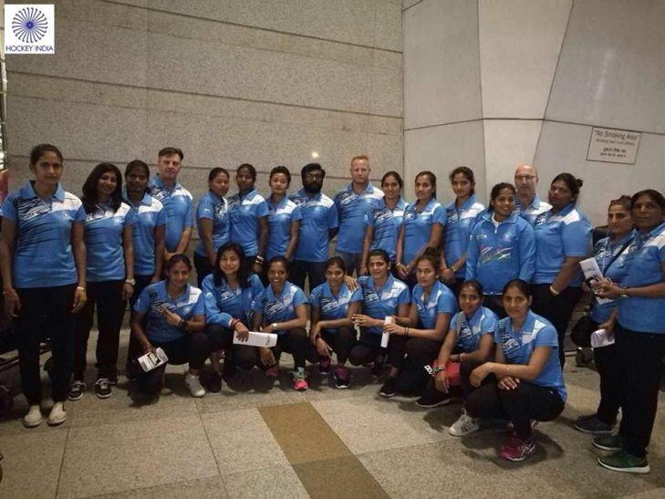 महिला हॉकी वर्ल्ड लीग राउंड-2 के लिए कनाडा रवाना हुई भारतीय टीम