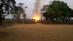 सेना के बम बनाने फैक्ट्री में फिर उठा धुआं, कई किमी दूर से दिखा-देखें वीडियो