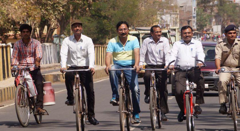 पर्यावरण और स्वास्थ्य को बेहतर बनाने चलाई साइकिल