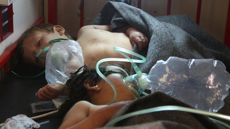 सीरिया में रासायनिक हमला, बच्चों समेत 68 लोगों की मौत