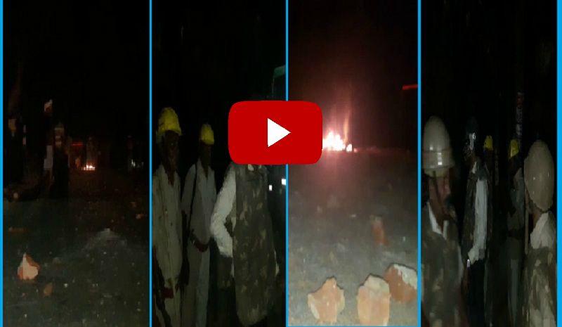 जौनपुर में पुलिस और पब्लिक के बीच हिंसा का VIDEO