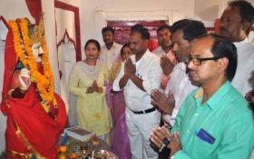 शोभायात्रा निकाल मनाई गई भगवान चित्रगुप्त की जयंती