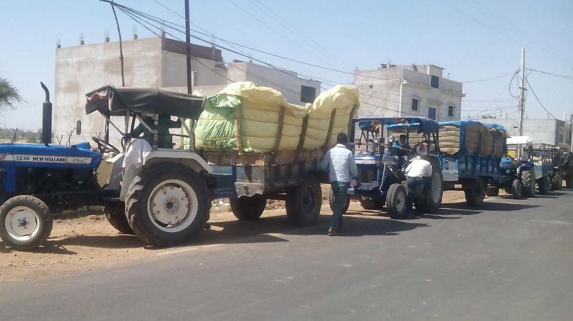 सत्रह दिन मे साढ़े बारह सौ किसानों ने बेचा गेहूं