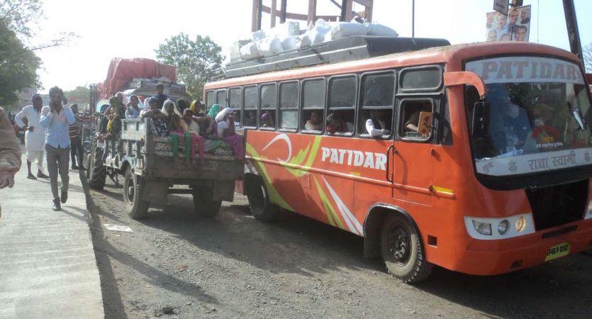 सुठालिया बाइपास पर जाम, दिनभर परेशान हुए वाहन चालक