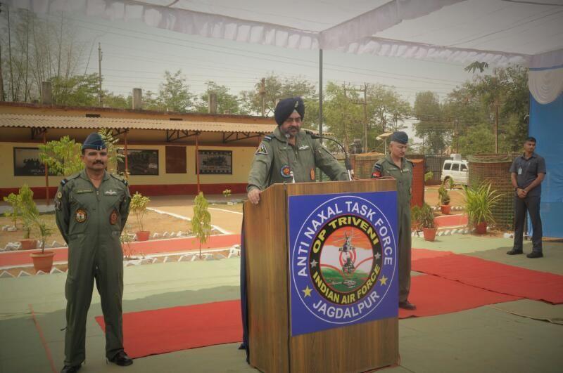 Air chief Marshal ने बस्तर में फोर्स व प्रशासन की सराहना की