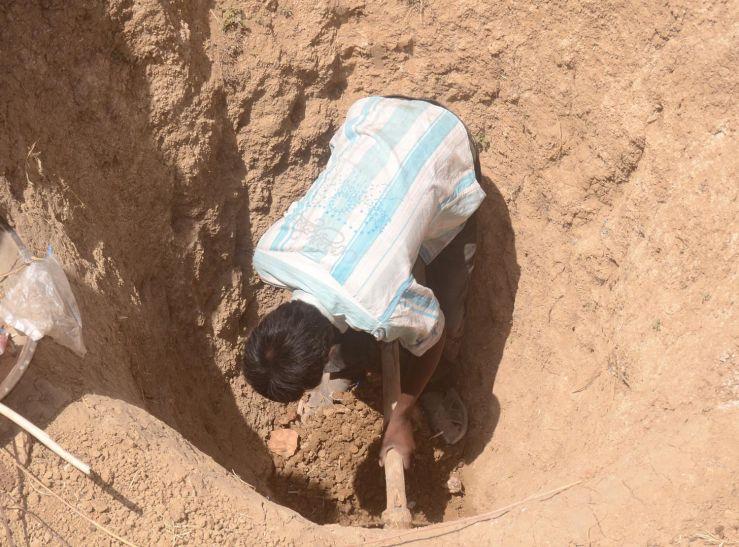 टकनेरी में छह शादी, पानी के लिए फिर शुरू हुईगड्ढे की खुदाई