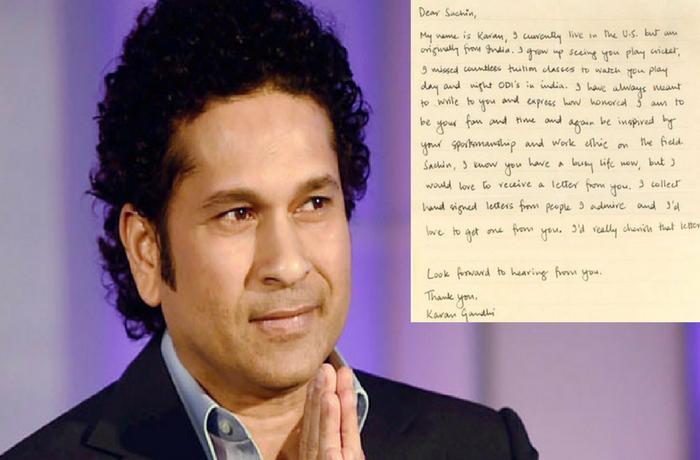 प्रशंसक ने लिखी सचिन को चिट्ठी तो सचिन ने चिट्ठी का दिया ऐसा जबाब कि कायल हो गई पूरी दुनिया