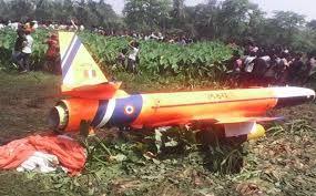 ओडिशा में वायुसेना का मानव रहित विमान लक्ष्य दुर्घटनाग्रस्त