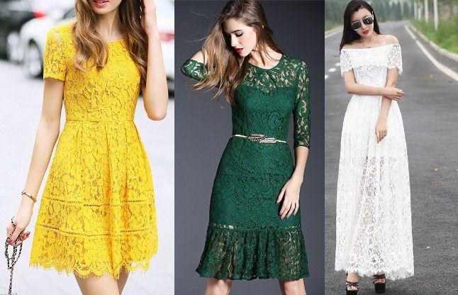 Image result for लेस ड्रेस