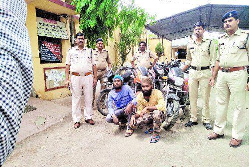 महाराष्ट्र से चुराई बाइक, फिर ऐसे पकड़ाए