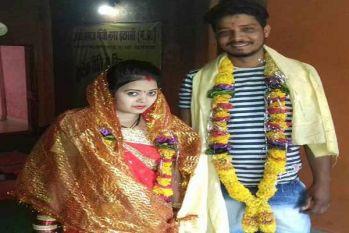 मंदिर में शादी करने के बाद पुलिस से बोली छात्रा-मेरे घर भेज देना शादी का संदेश