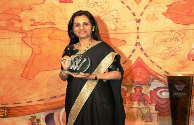 चंदा कोचर बनी वुडरो विल्सन अवॉर्ड लेने वाली पहली भारतीय महिला