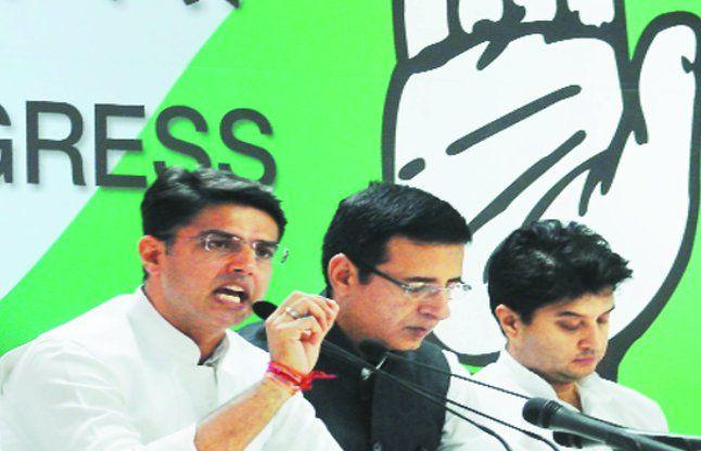 कांग्रेस ने उतारे छह नेता, पूरे दिन मोदी सरकार को कोसा