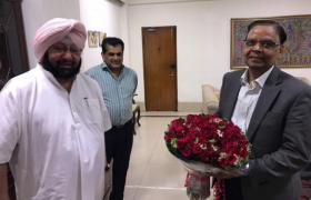 कैप्टन अमरिंदर सिंह ने की नीति आयोग के उप-चेयरमैन के साथ मुलाकात