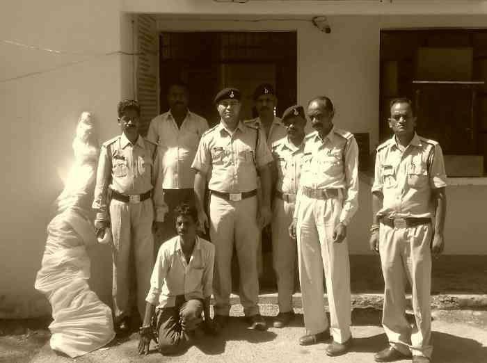 35 किलो गांजा समेत आरोपी गिरफ्तार