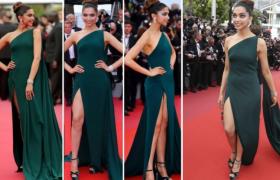 Cannes 2017: रेड कारपेट पर दिखा ग्रीन गाउन में दीपिका पादुकोण का हॉट अंदाज, Watch Video