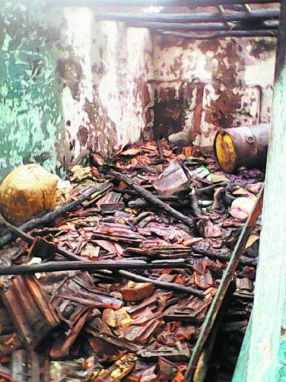 पोआमा नर्सरी में लगी आग