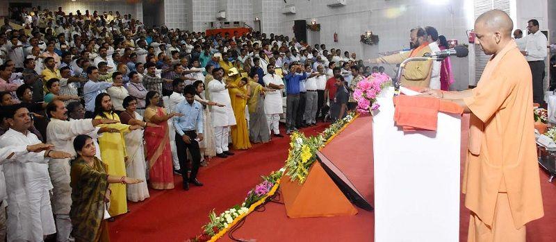 CM योगी ने कहा गंगा यमुना पर संकट आया तो यूपी रेगिस्तान बन जाएगा
