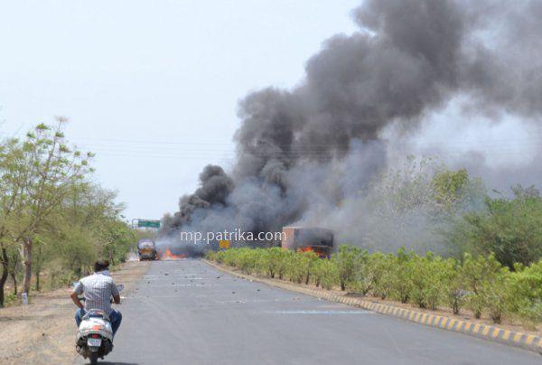 MP के मंदसौर में हिंसा, फायरिंग में 5 किसानों की मौत, कर्फ्यू लगाया