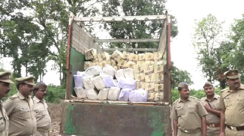 बिहार भेजी जा रही 175 पेटी अंग्रेजी शराब बरामद