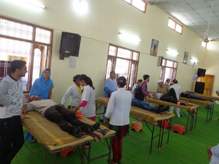 संत निरंकारी मिशन ने 150 यूनिट किया रक्तदान